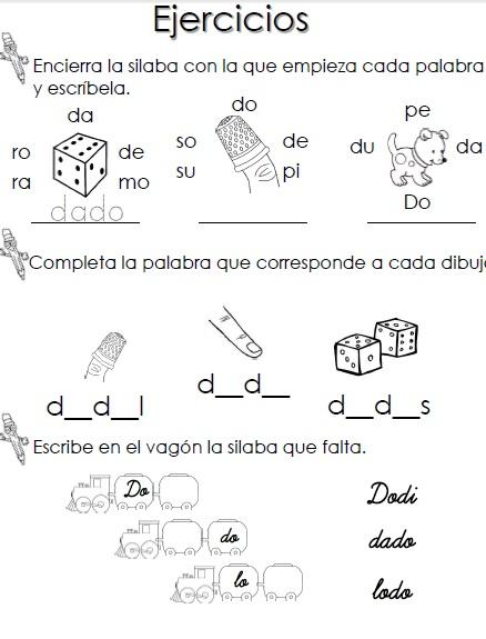 Plantillas para practicar la lectoescritura en pdf