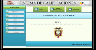 Archivo en Excel para el Control de calificación para colegio
