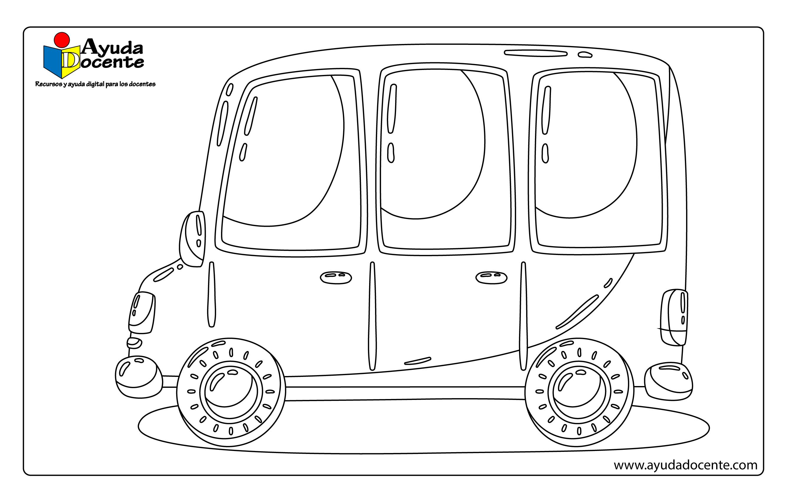 Dibujos de autos para colorear - AYUDA DOCENTE