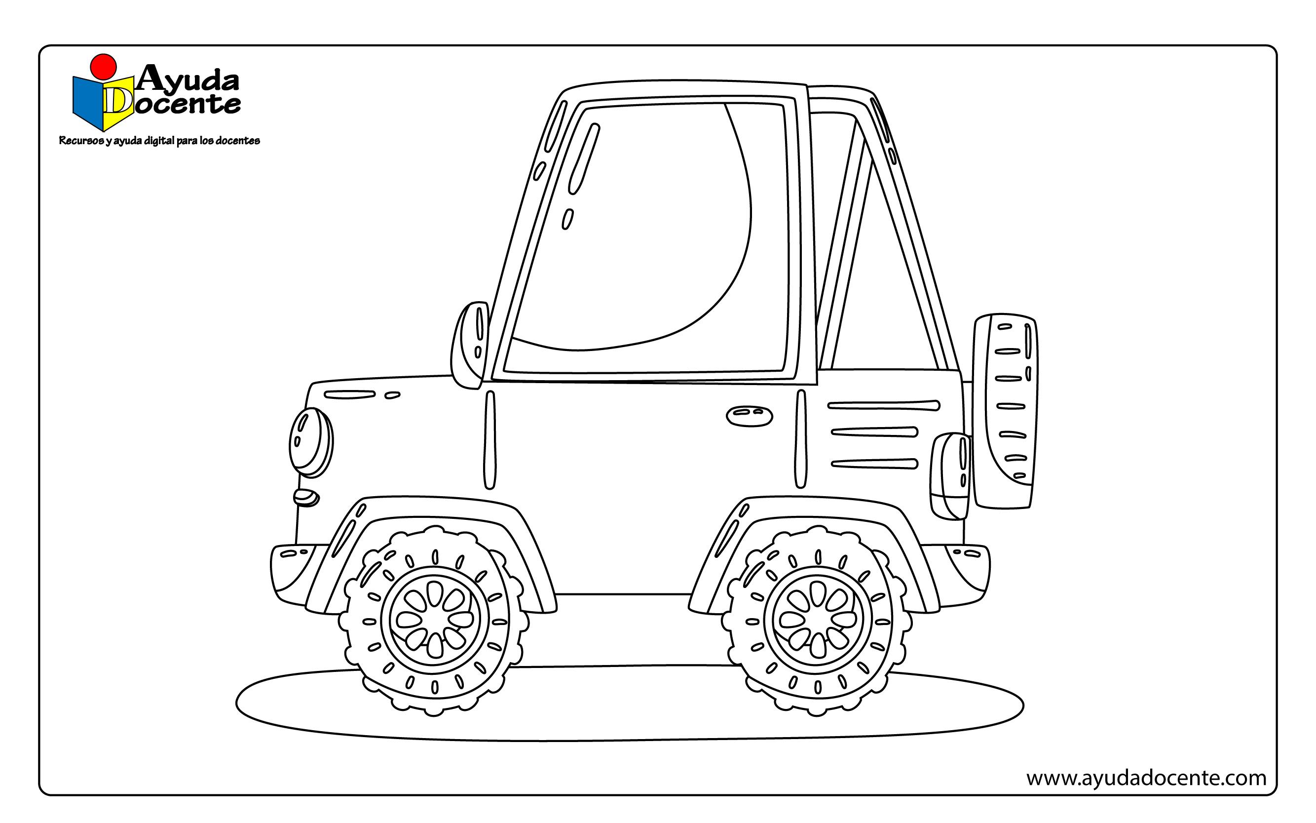 Imagenes De Carros Para Colorear: Dibujos De Autos Para Colorear
