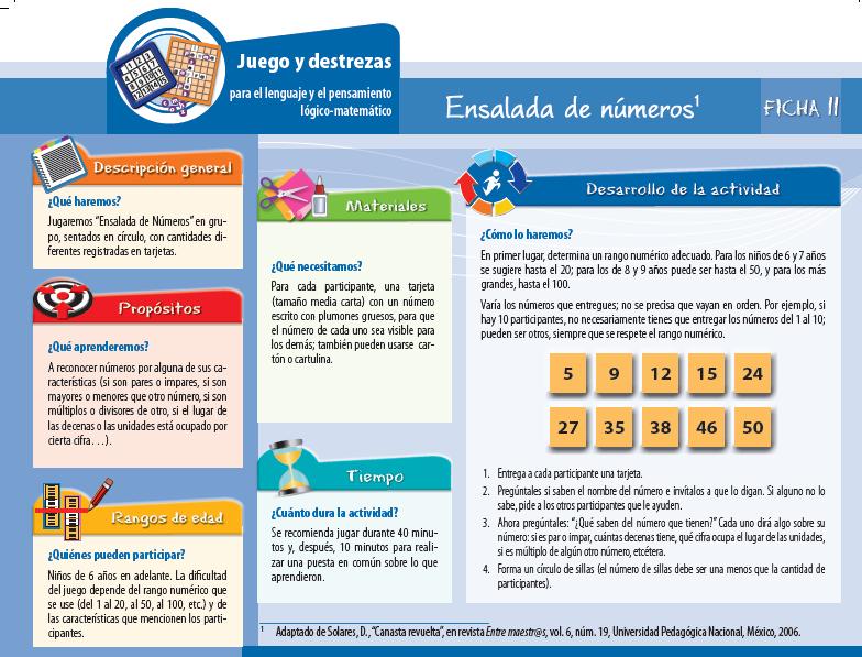 Juego y destrezas para el lenguaje y el pensamiento lógico-matemático en pdf