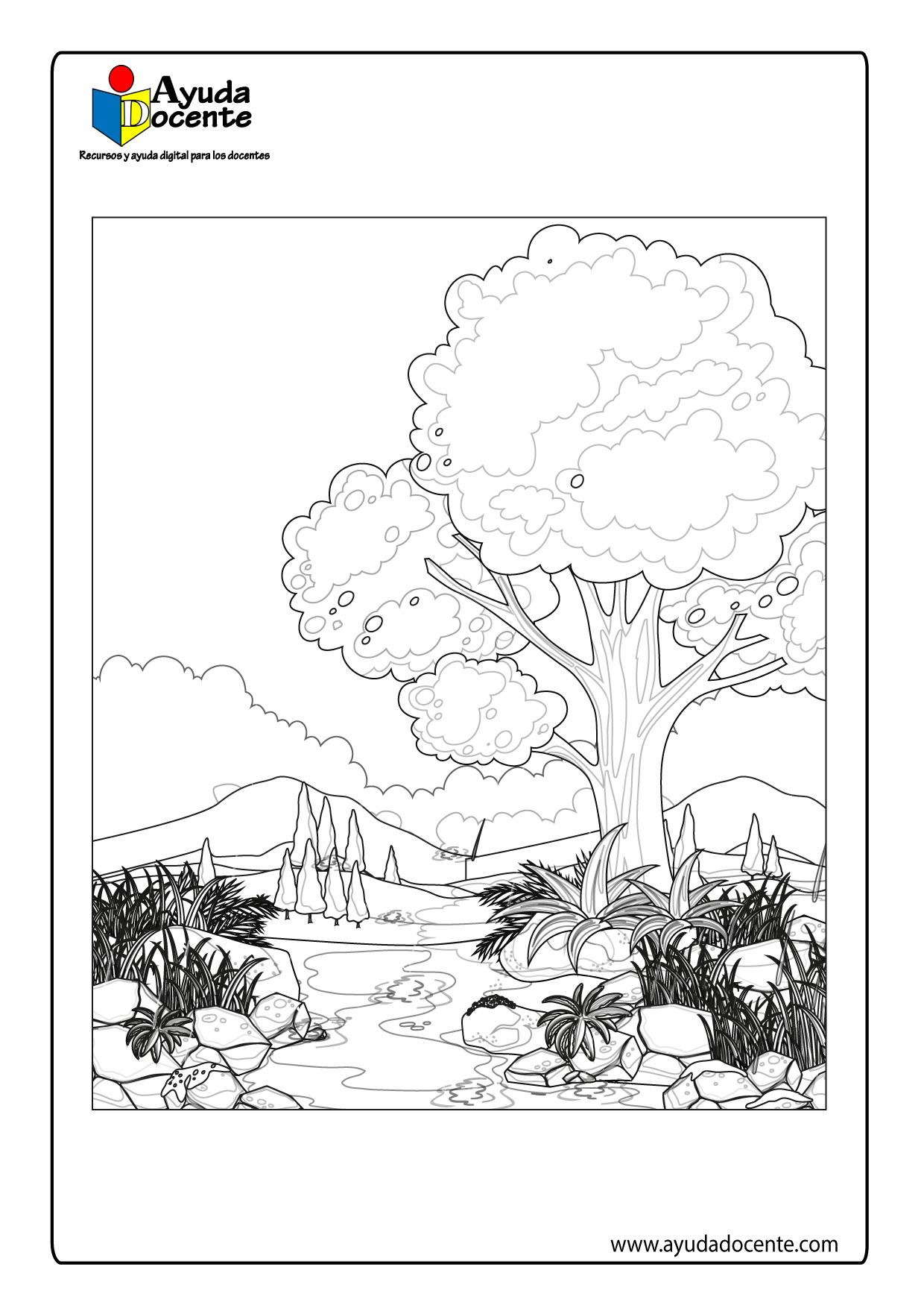Dibujo de paisaje 03