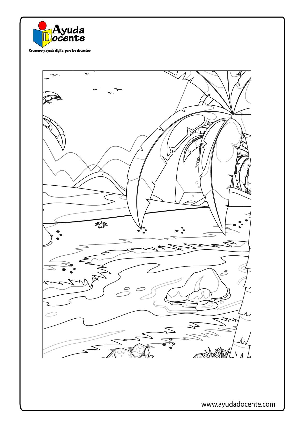 Dibujo de paisaje 04