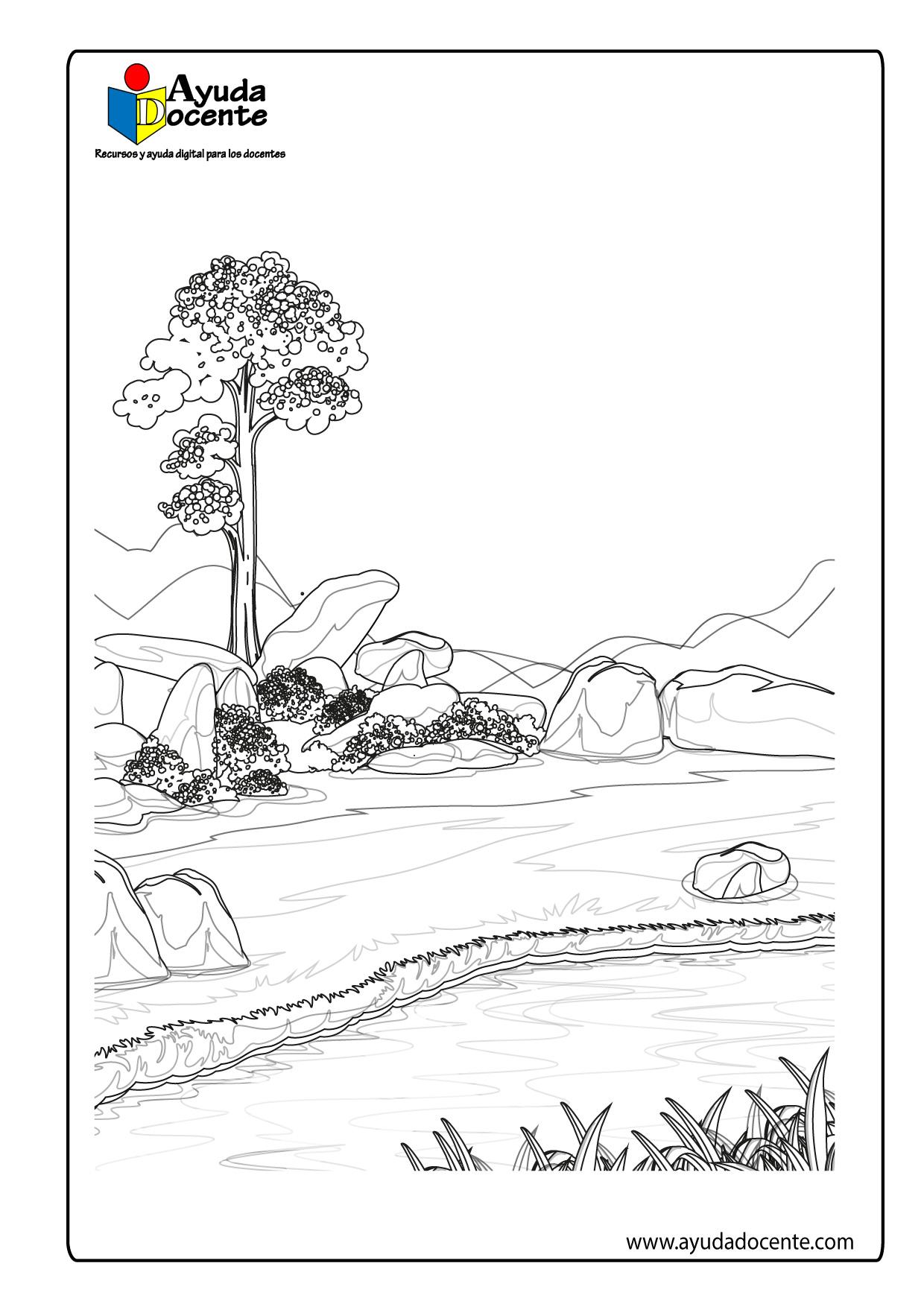 Dibujo de paisaje 05