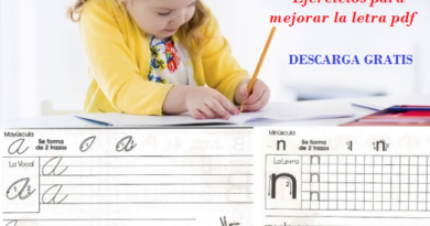 Ejercicios para mejorar la letra pdf