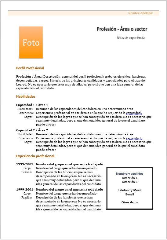 formatos de hoja de vida para docentes - en word
