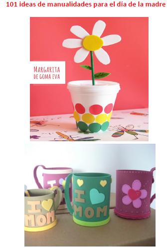101 ideas de manualidades para el día de la madre