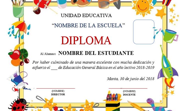 Plantillas De Diplomas Para Editar Ayuda Docente