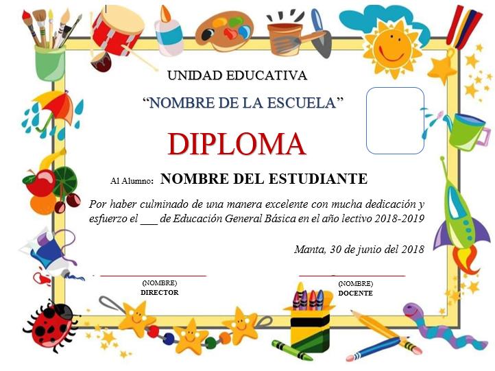 Plantillas de diplomas para editar