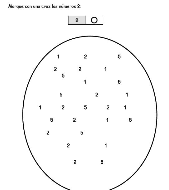 Cuadernillo de números para preescolar