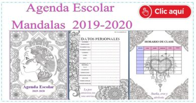 Agenda escolar Mandalas 2019-2020 ACTUALIZADA