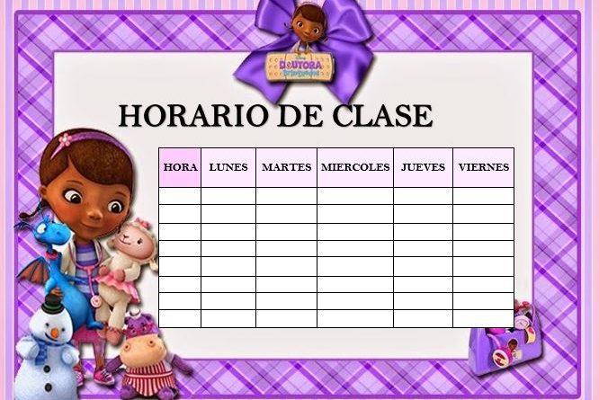 Plantillas para horario de clase en Word - AYUDA DOCENTE