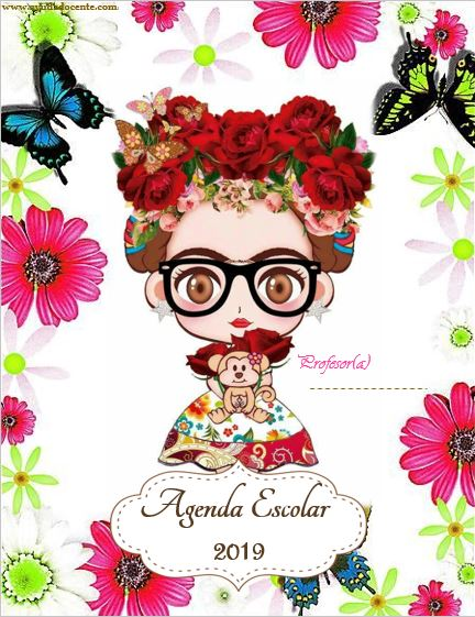 agenda escolar Frida Kahlo