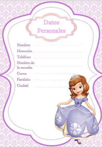 Diario de tareas Escolares de Princesas