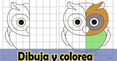 Completa el dibujo y a colorear
