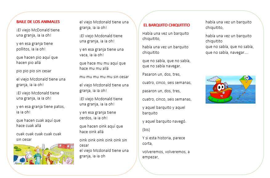Canciones infantiles letra