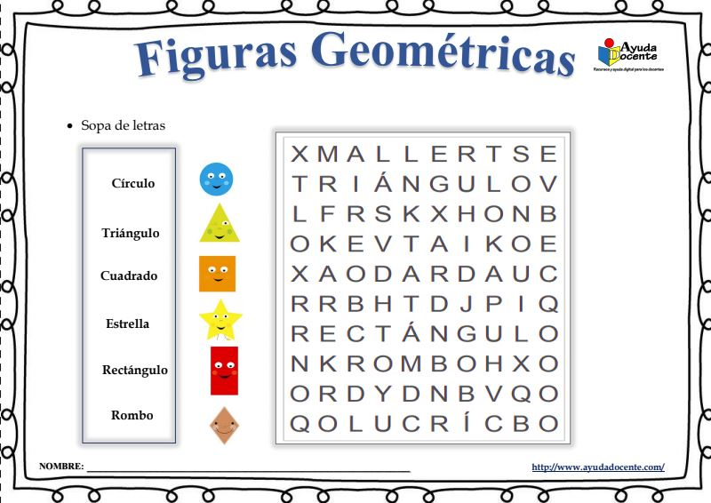 Aprendiendo las figuras geométricas