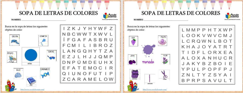 Sopa de letras de los colores pdf