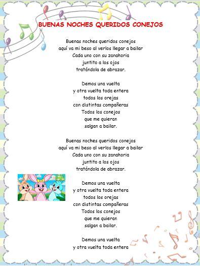 Letras de canciones infantiles #2