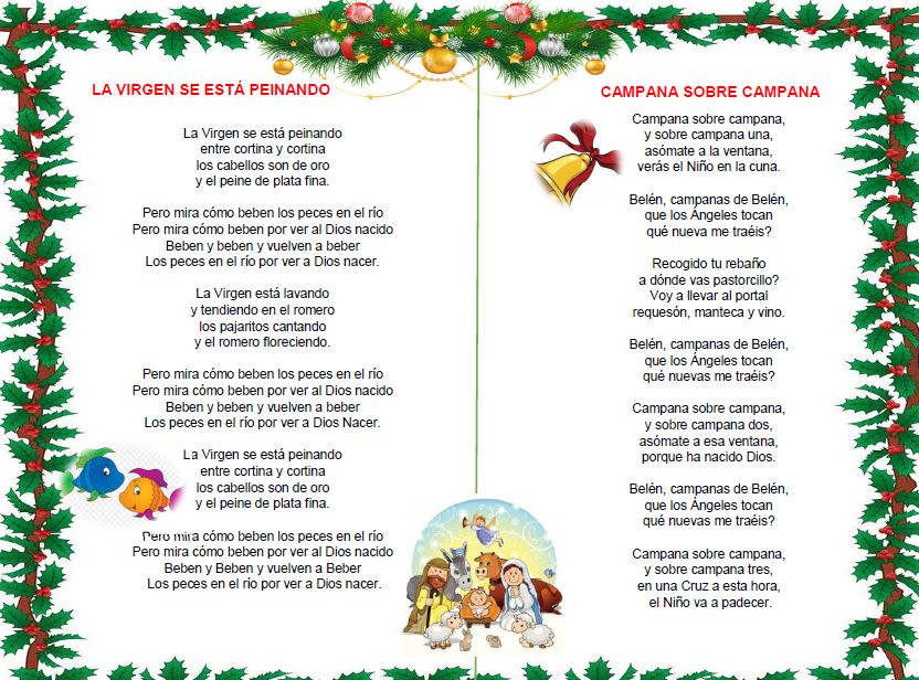 Imagenes De Villancicos Campana Sobre Campana.Canciones Navidenas Infantiles Letra Ayuda Docente