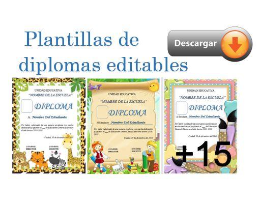 Plantillas de diplomas gratis editables en word