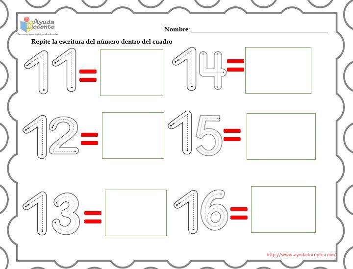 Actividades Para Aprender Los Números Del 11 Al 20