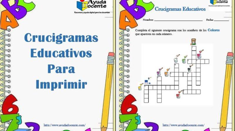 Crucigramas educativos para niños