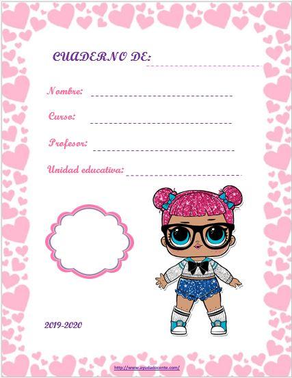 Caratulas para cuadernos niñas imprimir