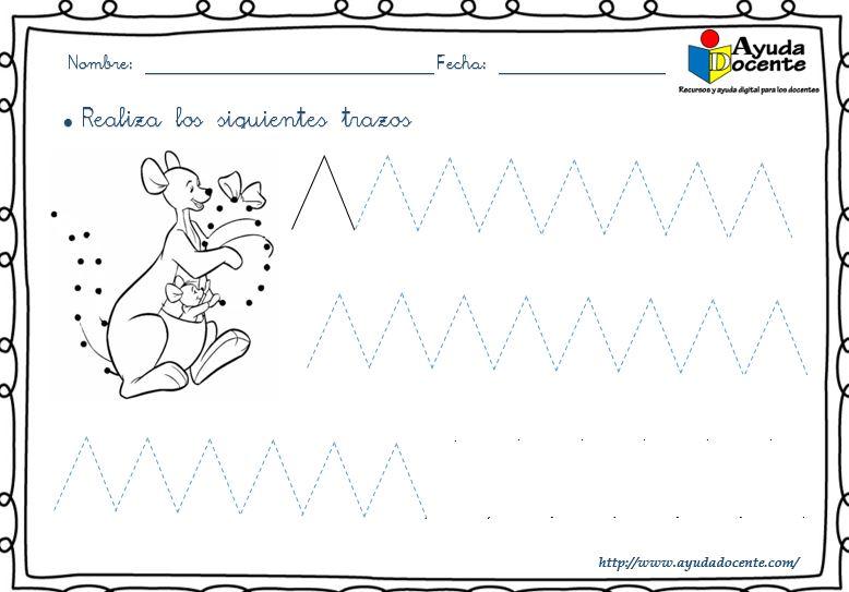 Ejercicios de grafomotricidad trazos pdf