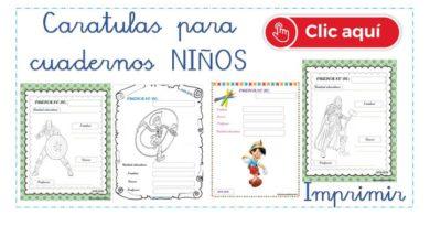 Carátulas para cuadernos niños imprimir