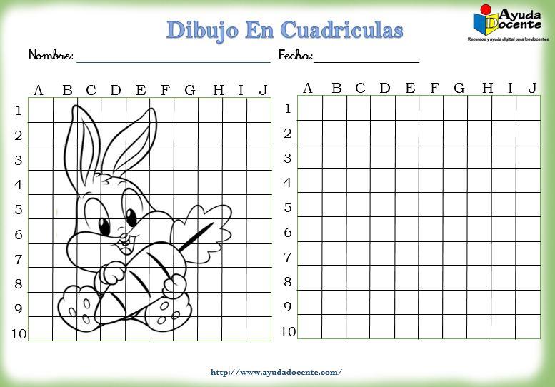 Fichas con dibujos en cuadriculas para niños pdf