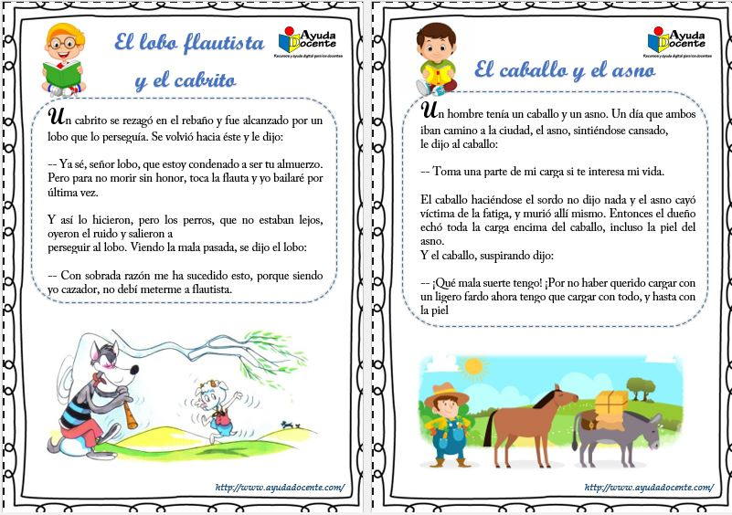 Lecturas cortas para niños de primaria pdf