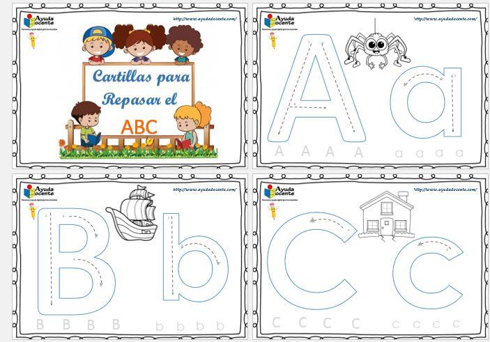 Fichas para repasar y colorear el abecedario imprimir