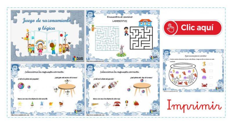 Juegos De Razonamiento Y Lógica Para Niños Pdf Ayuda Docente