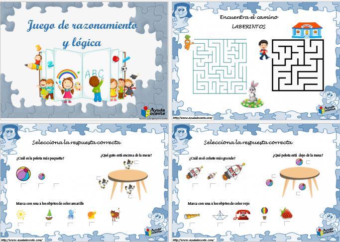 Juegos de razonamiento y lógica para niños pdf