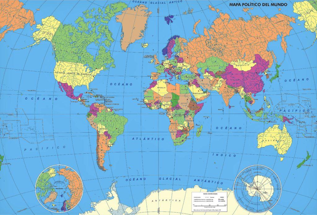 mapa con nombres a color