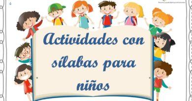 actividades con sílabas para niños