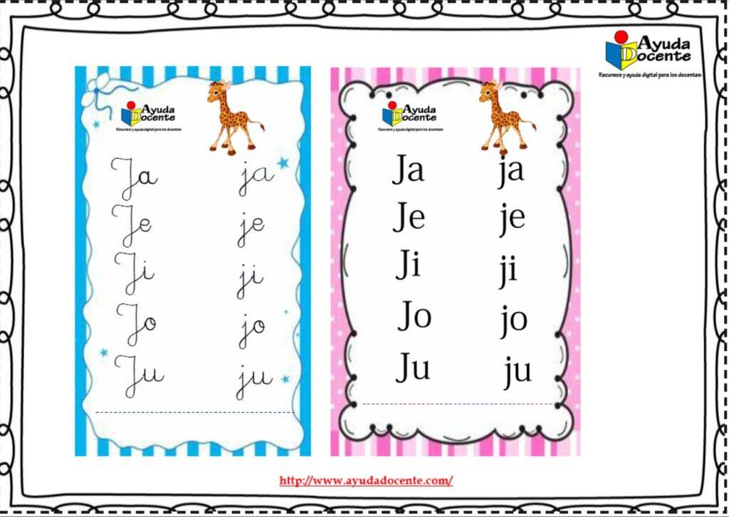 sílabas simples para niños